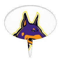 Doberman Pinscher Dog Mascot Cake Topper