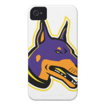 Doberman Pinscher Dog Mascot Case-Mate iPhone 4 Case