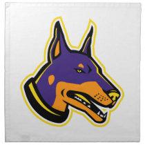 Doberman Pinscher Dog Mascot Cloth Napkin