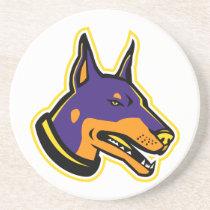Doberman Pinscher Dog Mascot Coaster