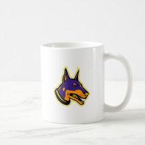 Doberman Pinscher Dog Mascot Coffee Mug