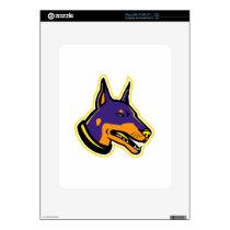 Doberman Pinscher Dog Mascot Decal For iPad
