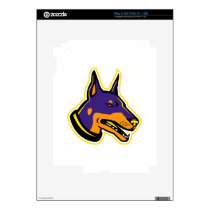 Doberman Pinscher Dog Mascot Decal For iPad 2