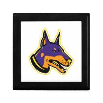 Doberman Pinscher Dog Mascot Gift Box