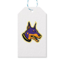 Doberman Pinscher Dog Mascot Gift Tags