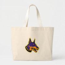 Doberman Pinscher Dog Mascot Large Tote Bag
