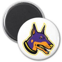 Doberman Pinscher Dog Mascot Magnet