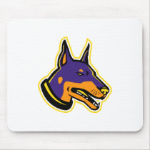 Doberman Pinscher Dog Mascot Mouse Pad