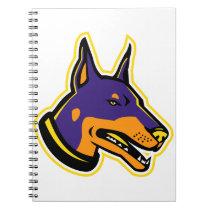 Doberman Pinscher Dog Mascot Notebook