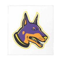 Doberman Pinscher Dog Mascot Notepad