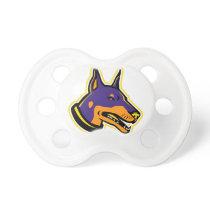 Doberman Pinscher Dog Mascot Pacifier