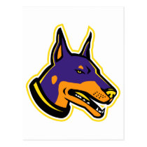 Doberman Pinscher Dog Mascot Postcard