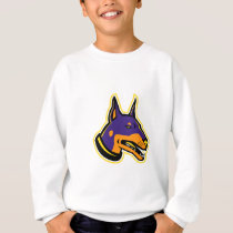 Doberman Pinscher Dog Mascot Sweatshirt