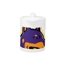 Doberman Pinscher Dog Mascot Teapot