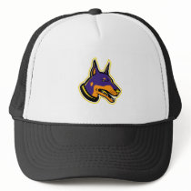 Doberman Pinscher Dog Mascot Trucker Hat