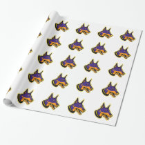Doberman Pinscher Dog Mascot Wrapping Paper