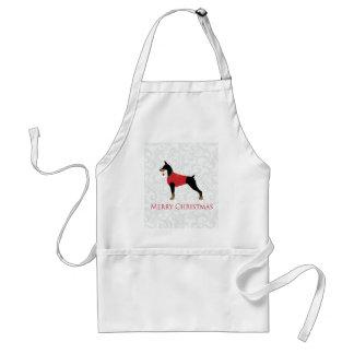 Doberman Pinscher Dog Merry Christmas Design Adult Apron