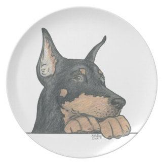 DOBERMAN PINSCHER DOG PLATE
