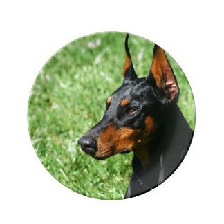 Doberman Pinscher dog Plate