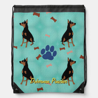 Doberman Pinscher Drawstring Backpack