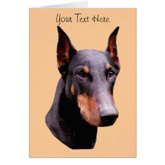 Doberman Pinscher Face Dog Card