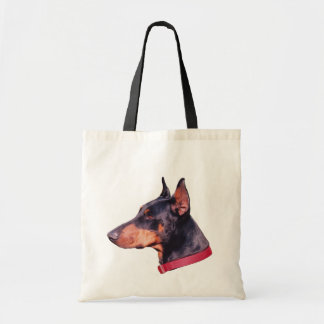 Doberman Pinscher Face Dog Photo Tote Bag