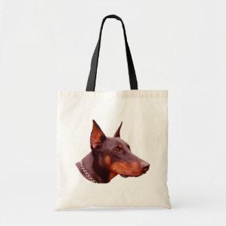 Doberman Pinscher Face Dog Photo Tote Bag