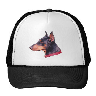 Doberman Pinscher Face Hat