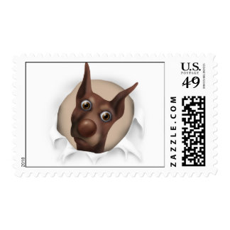 Doberman Pinscher (Fawn) Busting Out - Customized Postage