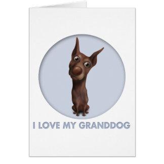 Doberman Pinscher (Fawn) Granddog Card