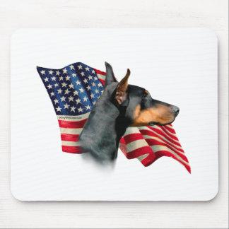 Doberman Pinscher Flag Mouse Pad