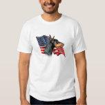 Doberman Pinscher Flag T-shirt