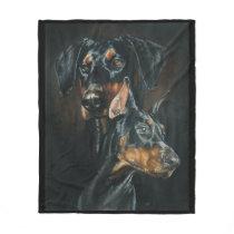 Doberman Pinscher Fleece Blanket