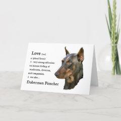 Doberman Pinscher Gifts card