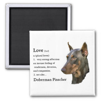 Doberman Pinscher Gifts 2 Inch Square Magnet