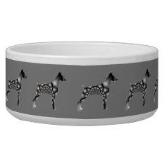 Doberman Pinscher Grey Dog Bowl at Zazzle
