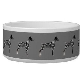 Doberman Pinscher Grey Dog Bowl