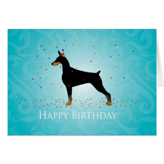 Doberman Pinscher Happy Birthday Design Card