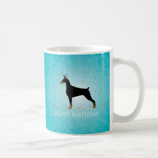 Doberman Pinscher Happy Birthday Design Coffee Mug