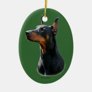 Doberman Pinscher head Ornament