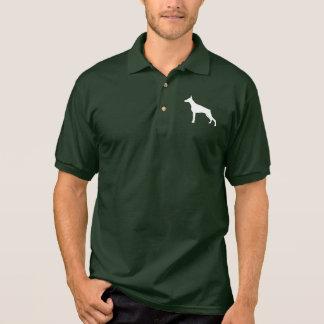 Doberman Pinscher in Silhouette Polo Shirt
