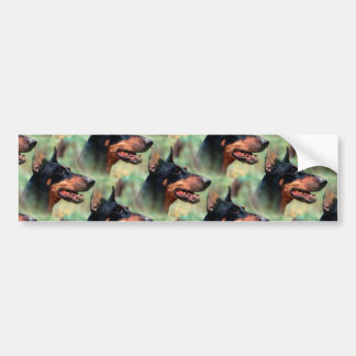 Doberman Pinscher in the Woods Bumper Sticker