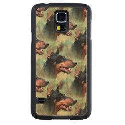 Carved ® Samsung Galaxy S5 Slim Wood Case with Doberman Pinscher Phone Cases design
