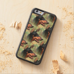 Carved ® iPhone 6 Bumper Wood Case with Doberman Pinscher Phone Cases design