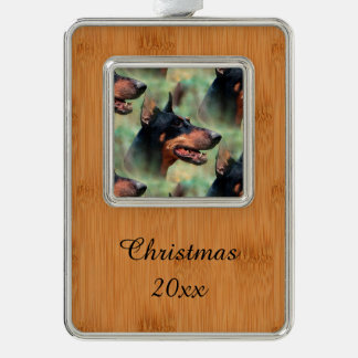 Doberman Pinscher in the Woods Christmas Ornament