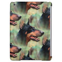 Case Savvy Glossy Finish iPad Air Case with Doberman Pinscher Phone Cases design