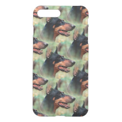 Uncommon iPhone 7 Plus Clearly™ Deflector Case with Doberman Pinscher Phone Cases design