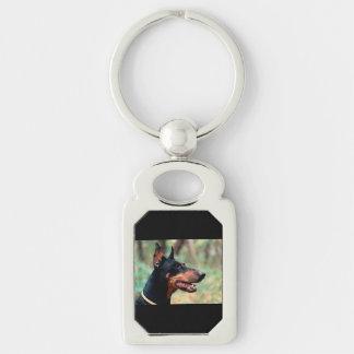 Doberman Pinscher in the Woods Keychain