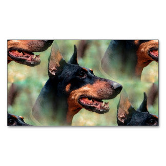 Doberman Pinscher in the Woods Magnetic Business Card