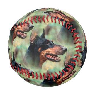 Doberman Pinscher in the Woods Baseballs